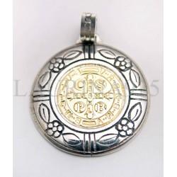 Medalla San Benito con decorado