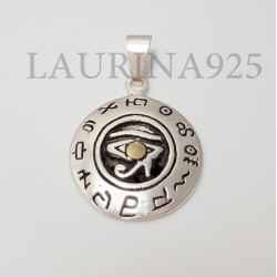 Dije Medallita Ojo de Horus Plata y Oro