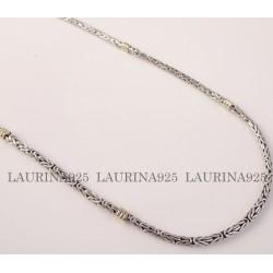 Cadena Bizantina largo 50 cm de Plata y Oro