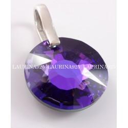 Dije Swarovski redondo Sol Purple Velvet