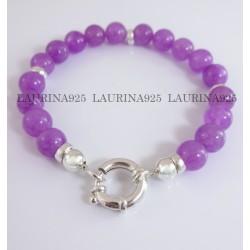 Pulsera c/ Donas y Piedras lilas Marinero