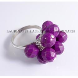 Anillo Swatch Piedras 7 mm Violeta