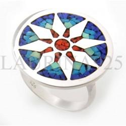 Anillo Mandala Mosaico Estrella