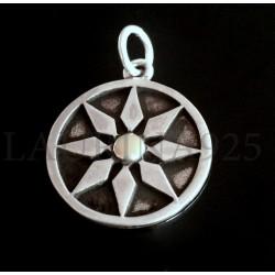 Medalla Mandala Estrella con Oro
