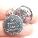 """Medalla Arbol y mensaje """"Family"""""""