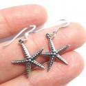 Aros estrella de mar puntitos colgantes