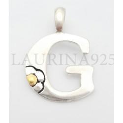 Dije Inicial con aplique oro ( G )